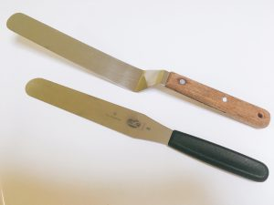 パティシエおすすめ製菓道具 ショートケーキ ナッペ用のパレットナイフ