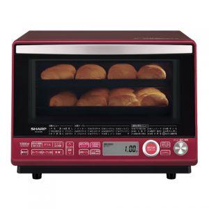 パティシエおすすめオーブン シャープ 過熱水蒸気オーブンレンジ 2段調理 31L レッド RE-SS10B-R
